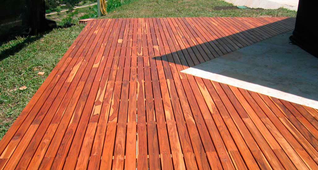 madera natural pisos teka