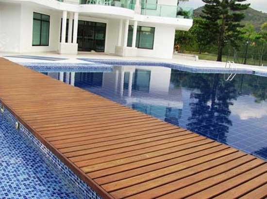 Piso deck instalado en Anapoima